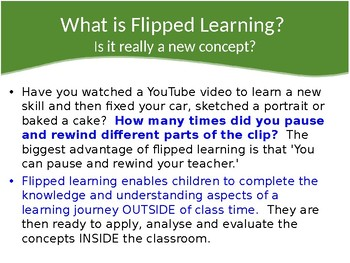Flipped Learning Professional Development