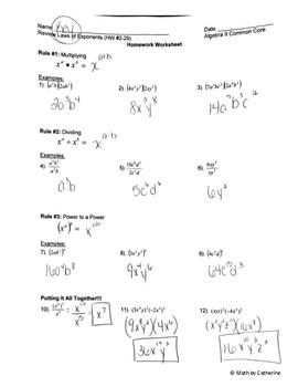 Flipped Lesson- Review of Laws of Exponents