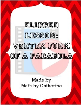 Flipped Lesson- Vertex Form of a Parabola