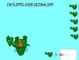 Flipped over Decimals smartboard game