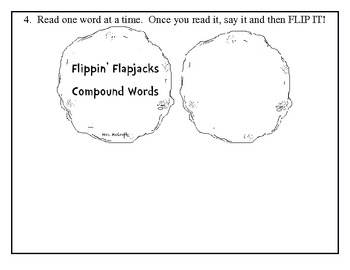 Flippin' Flapjacks!  Compound Word Work: If You Give a Pig a Pancake