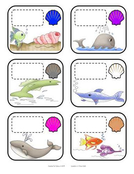 Label the Colors Cards - Ocean Fish