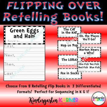 Flipping Over Seuss Stories 8 Retelling Companion Lesson Flip Books Sequencing