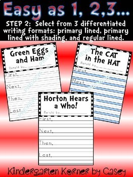 Flipping Over Seuss Stories- 8 Retelling Companion Lesson Flip Books Sequencing
