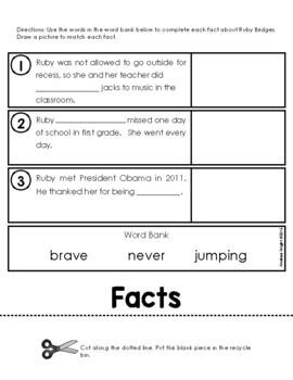 Flipping Over Ruby Bridges!  {An Informational Flip Book for Grades 1-2}