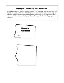 California Unit Study Flipbook