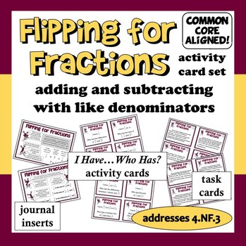 Flipping for Fractions activity card set –aligned with Co