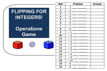 Flipping for Integers Operations Game