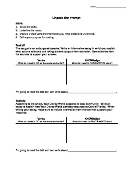 Flipping the Prompt! - Controlling Idea Statements - FSA Reading & Writing