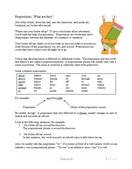 Preposition Phrase Poems {Grammar & Creative Writing}