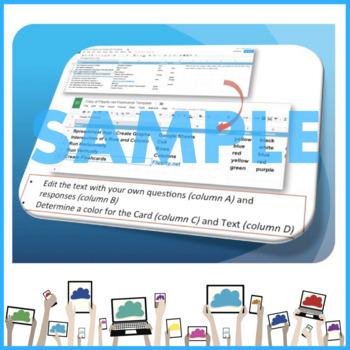 Flippity Flashcards using Google Sheets
