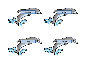 Flippy Dolphin (MEMORY) Game (Flip the Vowel Sounds from Short to Long or back)