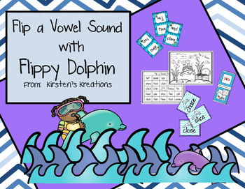 Flippy Dolphin Reading Strategy Pack:  Is it a long vowel or short vowel sound?