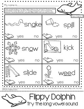 Flippy Dolphin Reading Strategy Practice Packet