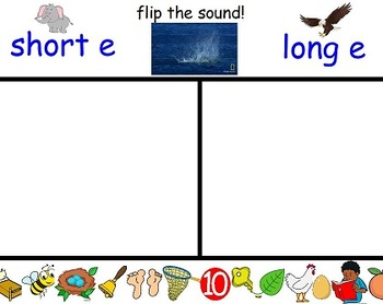 Flippy Dolphin short and long vowel picture sorts