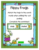 Flippy Frogs, adding -ed to words