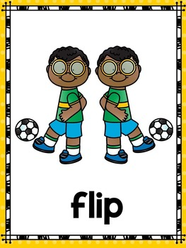 Flips, Turns and Slides Activities, Printables and Task Cards