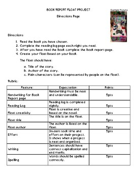 Float Book Report Project