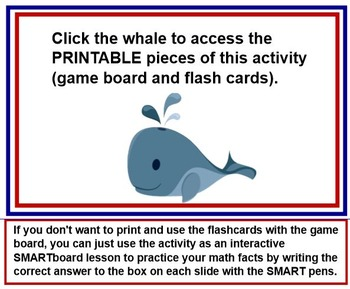 DIVISION FACTS Float Your Boat 4 In A Row SMARTBOARD PLUS PRINTABLE CARDS