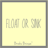 Float or Sink