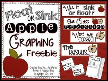 Float or Sink (Apple Graphing) Freebie