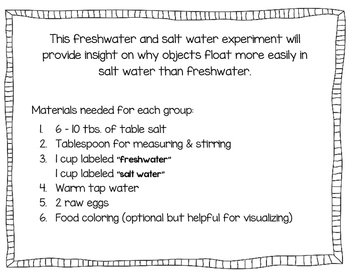 Float or Sink - Density Experiment