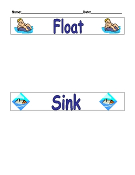 Float or Sink Sorting Activity! Fun! Fun! Fun!