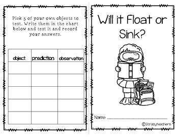 Float or Sink Stem Activity