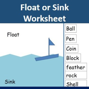 Float or sink worksheet