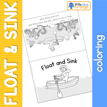 Float sink coloring booklet