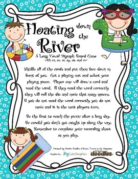 Floating Down the River - A Long Vowel Digraph Board Game