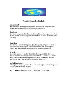 Floating Home STEM Children's Engineering Design Brief