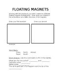 Floating Magnet Activity Sheet