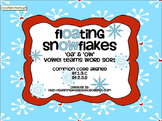Floating Snowflakes 'OA' and 'OW' Vowel Team Word Sort