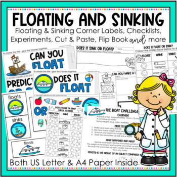 Floating and Sinking Activities and Worksheets for Kindergarten, Year 1 and 2.