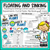 Floating and Sinking Activities and Worksheets for Kinderg