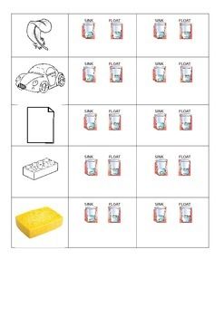 Floating and Sinking Activity Sheet