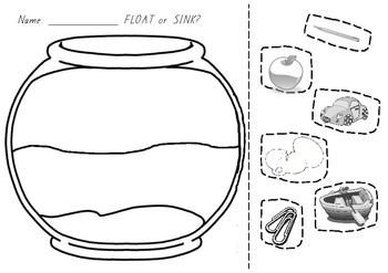 Float or Sink Worksheet / Activity Sheet - physical science