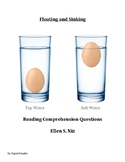 Floating and Sinking by Ellen S. Niz  Reading Comprehension Questions