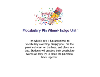 Flocabulary Indigo Unit 1 Pin Wheel