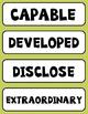 Flocabulary Orange Unit 1 Vocabulary Cards - Fourth Grade