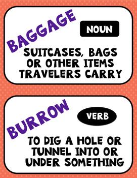 Flocabulary Orange Unit 3 Vocabulary Cards - Fourth Grade