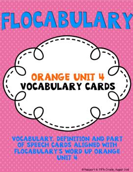 Flocabulary Orange Unit 4 Vocabulary Cards - Fourth Grade