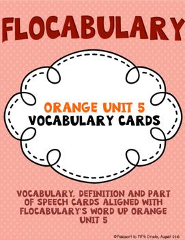 Flocabulary Orange Unit 5 Vocabulary Cards - Fourth Grade