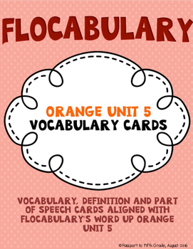 Flocabulary Orange Unit 5 Vocabulary Cards - Fourth Grade