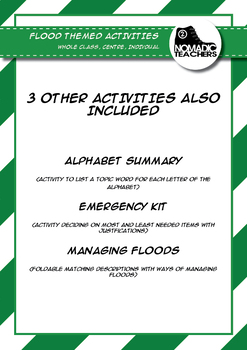 Flood Activities and Foldables - 6 contract activities