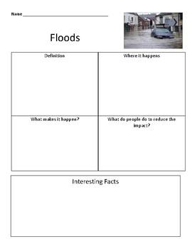 Flood graphic organizer