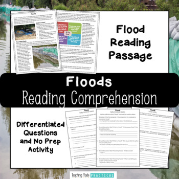 Floods Reading Comprehension with Differentiated Questions