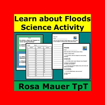 Floods science Task Cards