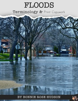 Floods Terminology & Print Copywork